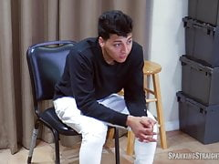 Latino Boy Goes Over a Man's Knee for the First Time