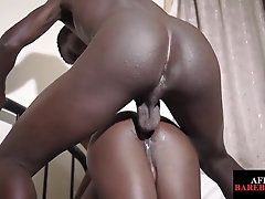 Unsaddled african twunk breeding black asshole