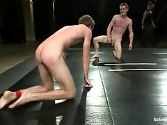 CJ gets his mouth and butt drilled by Matthew Singer on a ring