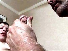 Old men sucks young boy - Cumshot - big load