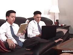 Latin Twinks Santiago and Mirko Barebacking