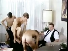 Three lewd dudes suck each other's cocks and make gay love
