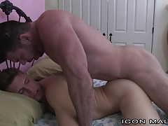 IconMale Muscle Bear Daddy Sneaks In College Boys Room !