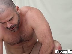 Smooth boy gets ball licked and rimmed before raw drilling