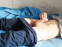 Teen jerking off in the morning