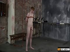 Sexy twink Levi has no choice but to submit when they arrive