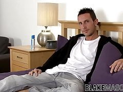 Naughty young man Daryl Cook interviewed before masturbation