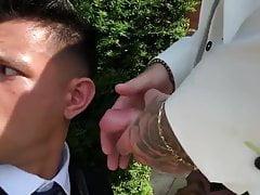 Sucking her friend's fiance on their wedding day