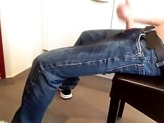Young Teen boy is horny after he wet his pants