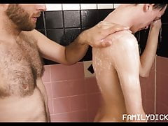 Young Skinny Twink Boy Stepson Fucked In Shower By Stepdad