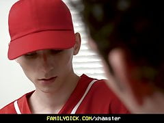 Horny Stepdad Fucks His Twink Stepson After Baseball Practic