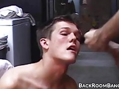 Deepthroating young amateur fucked raw until big facial