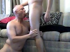 Sissy Mike Karacson sucks cock on his knees