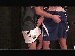 MATT HUGHES & ANDY O'NEIL IN SOCCER KIT