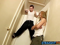 Elevated masturbation with Horny Billy and hottie Damien