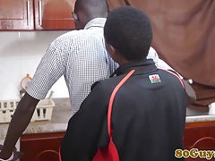 African cocksucking twinks in a kitchen